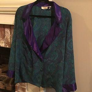 VINTAGE GOLD LABEL VICTORIA'S Secret Bed Jacket L